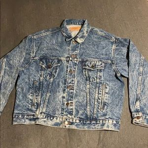 Vintage Levi's trucker jacket. 80's era acid wash
